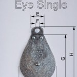 pulley fixed eye single