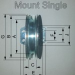 pully flat mount single